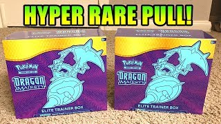 *HYPER RARE PULL!* OPENING 2 Pokemon Cards DRAGON MAJESTY ELITE TRAINER BOXES!