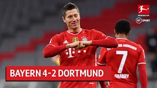 Bayern Munich vs Borussia Dortmund (4-2) | Lewandowski's hat-trick sinks BVB | Bundesliga Highlights