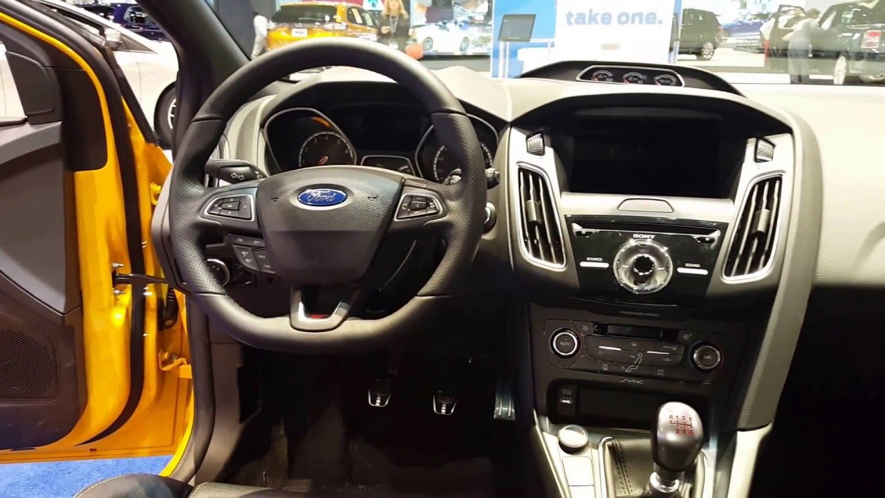 2016 ford focus st hatchback interior 2016 chicago auto show