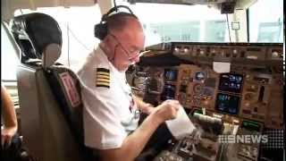 Qantas Captain Bob Bishop - Final Flight & Retirement (Channel 9)