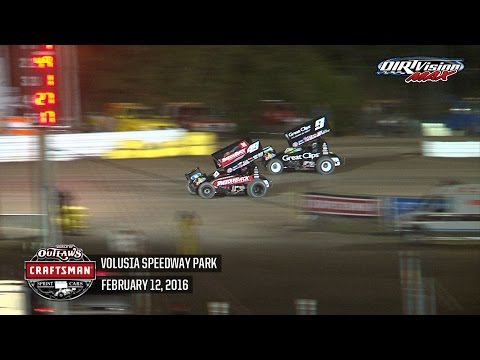 Highlights: World of Outlaws Craftsman Sprint Cars Volusia Speedway Park February 12th, 2016