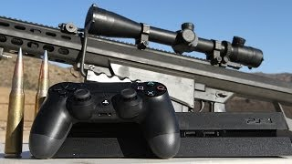 Sony PS4 vs .50 cal - Slow Mo Destruction at 50,000 FPS