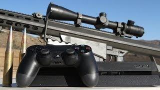 Sony PS4 vs .50 cal - Slow Mo Destruction at 50,000 FPS thumbnail