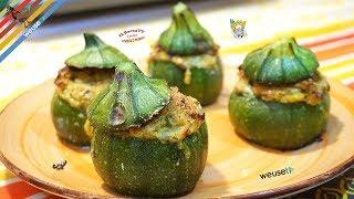 419 - Zucchine tonde ripiene vegetariane...e poi anche du' banane! (antipasto vegetariano facile)