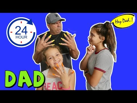 DAD GETS SUPER LONG NAILS FOR 24 HOURS | SISTER FOREVER