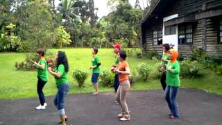 Doo Wah Diddy line dance, fun demo by wenarika and ldkb friends