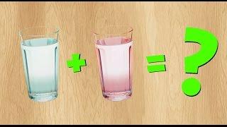 что Будет Если Смешать Воду Разной Плотности  What happens if the mixed water of different density