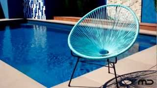 Acapulco Lounge Chair Replica - Outdoor Wicker - Light Blue - Milan Direct Uk