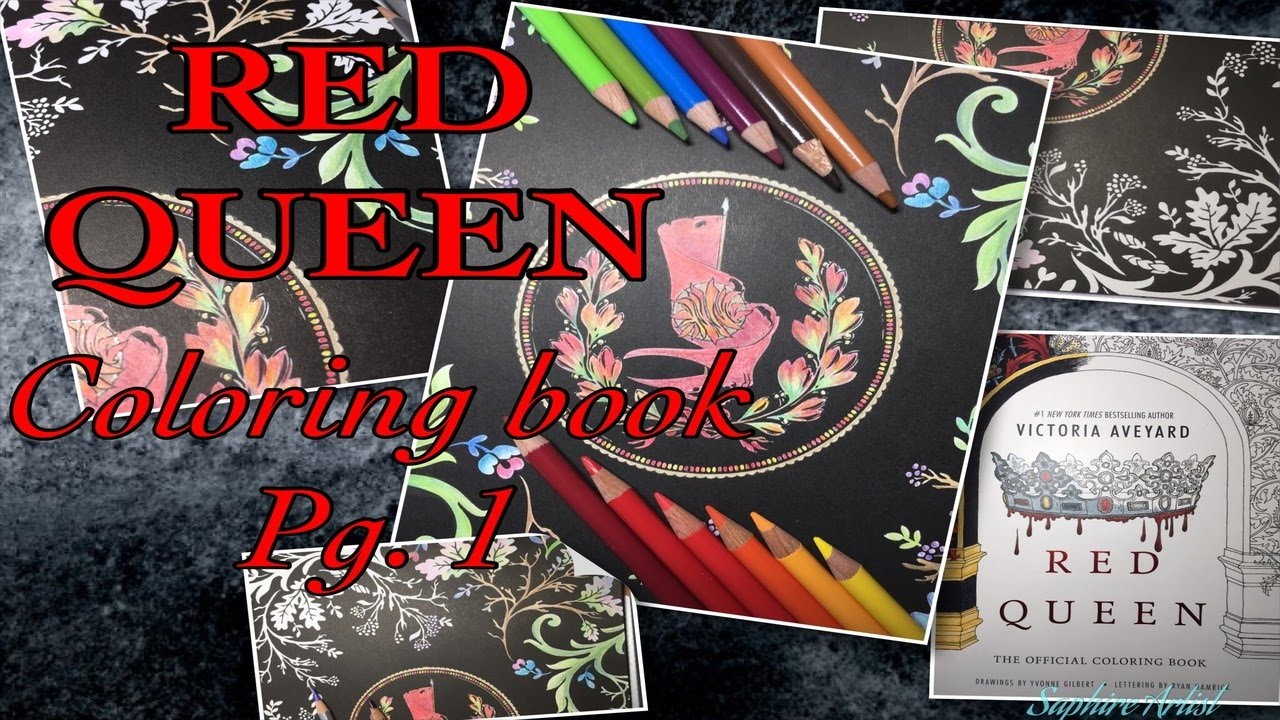 Speed Draw Red Queen Coloring Book Pg 1