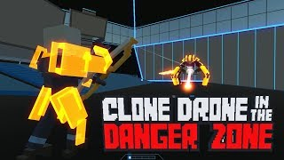 A VOLTA DA BATALHA DE ROBÔS! CLONE DRONE IN THE DANGER ZONE