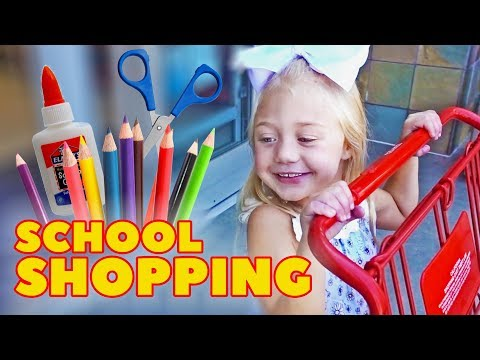 EVERLEIGH GOES SCHOOL SHOPPING FOR THE VERY FIRST TIME!!!