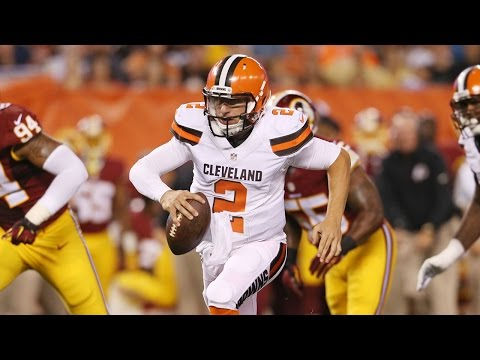 Johnny Manziel 2015 NFL Preseason Week 1 highlights