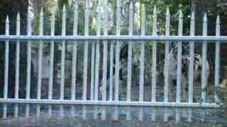 Wood Decorative Fence - Power Operation