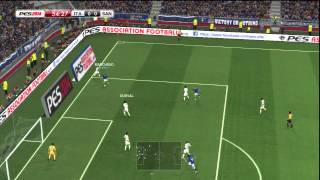 PES 2014 August Demo - Full match gameplay: Italy vs Santos