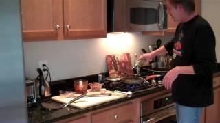Chipotle ShrimpLeek&Sweet Potato Pancakes