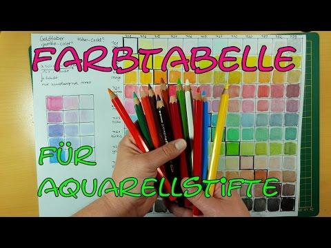 Farben mischen mit Aquarellstiften – aus 12 mach 144!