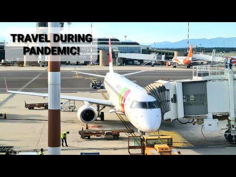 TRIP REPORT | TAP AIR PORTUGAL | Travel During Pandemic! | MILAN MALPENSA - LISBON | EMBRAER E195 |