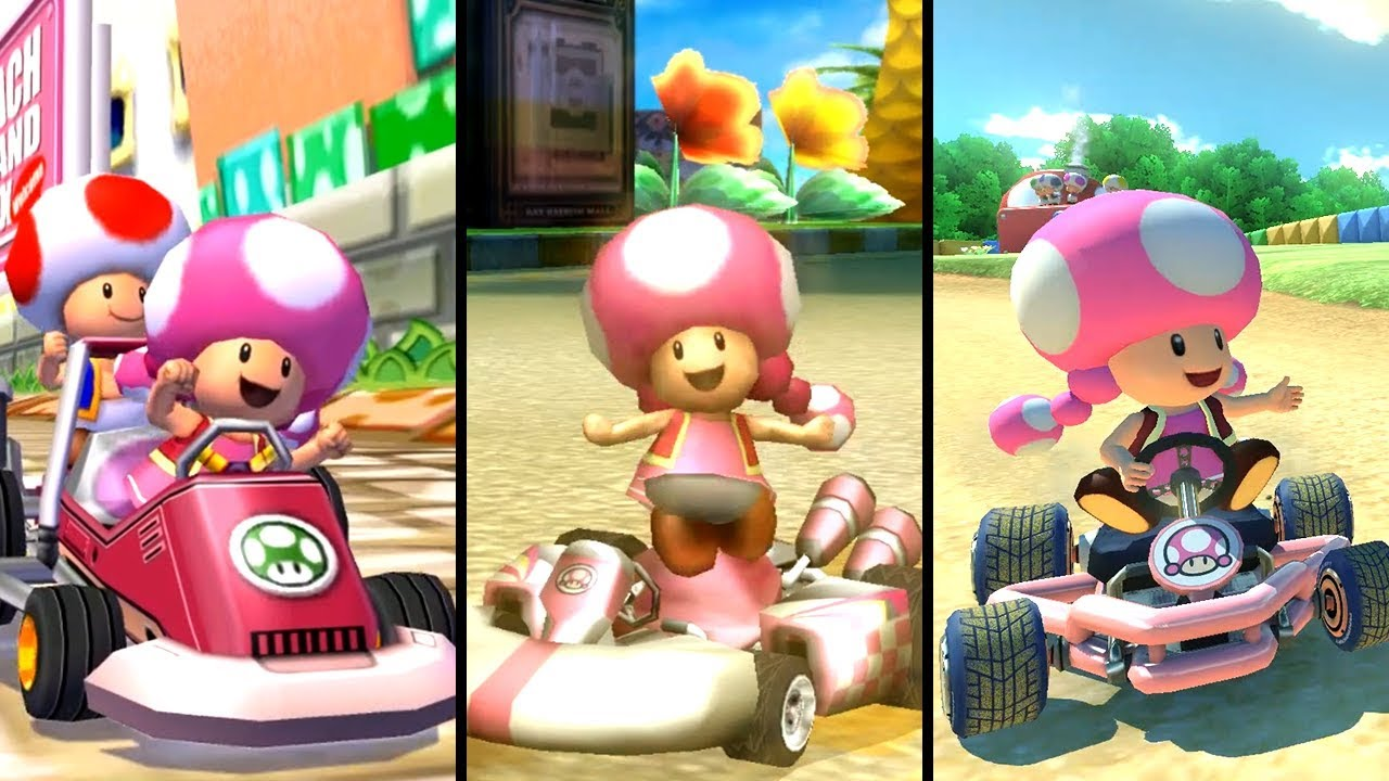 Evolution of Toadette in Mario Kart (2003-2019) - YouTube