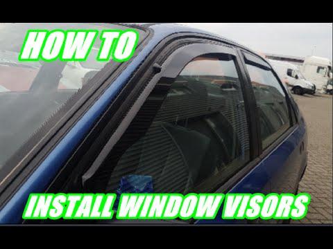 6819fe380ec How to install aftermarket window visors on a Honda Civic (Team Heko) -  YouTube
