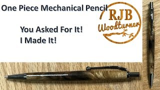 One Piece Mechanical Pencil With A Sassafras Blank