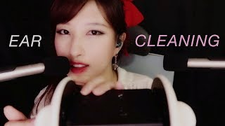 ASMR. Ear Cleaning w/Thick Metal Earpick (Whispering)