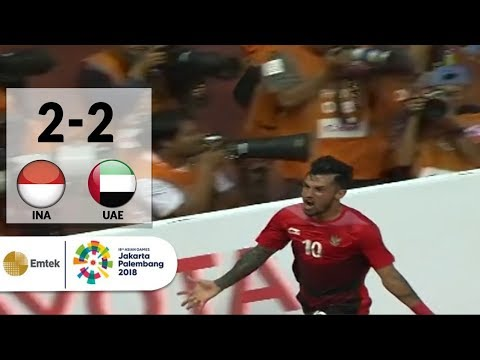 Goal Lilipaly - Sepak Bola Putra Indonesia (2) vs (2) United Arab Emirates   Asian Games 2018