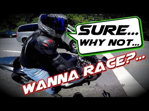 Zero FXS Electric motorcycle vs CBR 600 / Corvette Stingray Thug life / Eco Mode