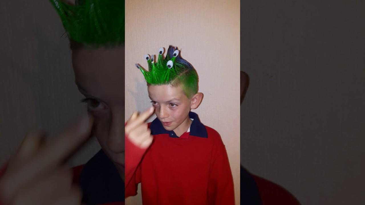 Peinado loco para niño