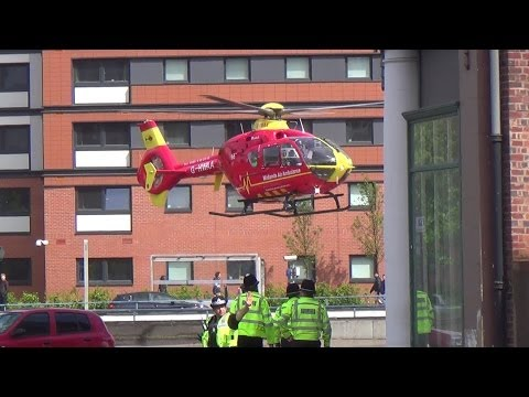 Midlands Air Ambulance (G-HWAA) | Lands at Birmingham Children's Hospital