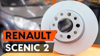 Como substituir discos de travão dianteira no RENAULT SCENIC 2 (JM) [TUTORIAL AUTODOC]