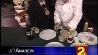 Disneyland Live Shot -Cooking with Mickey Mouse &amp Mike Hatton