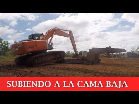 Subir Excavadora Al Remolque.