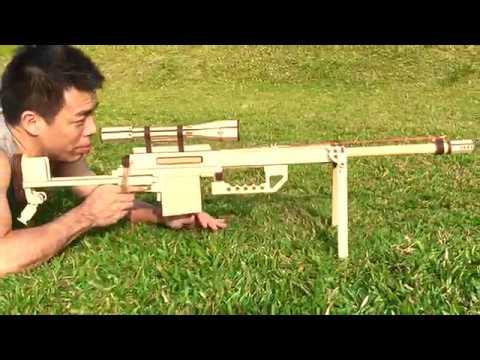 M200 Sniper Gun Rubber Band Gun 橡皮筋槍 狙擊槍 Youtube