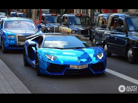 blue chrome lamborghini aventador in london - Lamborghini Aventador Blue Chrome