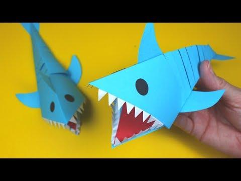 Moving Paper Shark | Paper Crafts for Kids