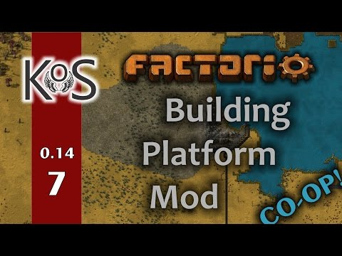 Factorio: Building Platform Mod - Co-op! Ep 7: Belts, Inserters, and Steel  - Multiplayer 0.14