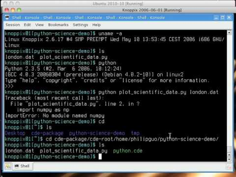 CDE: Automatically Create Portable Linux Software (4-minute Short Demo)