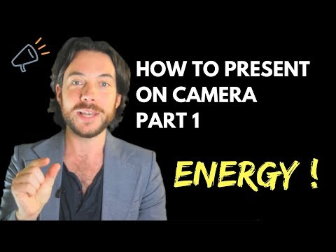 Presenting to camera techniques 101  - part: 1 get the right energy  - Marketing Tips - Buzzramp