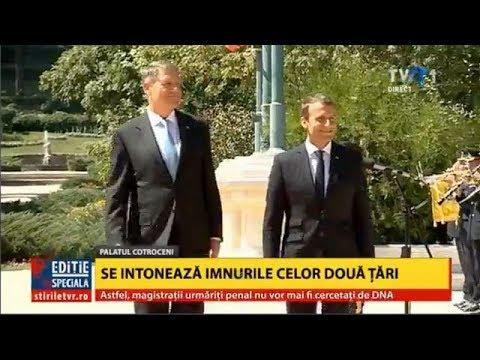 Sosirea lui Emmanuel Macron la Palatul Cotroceni