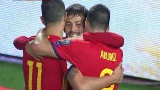spain 4 0 macedonia all goals and highlights aritz aduriz historic goal