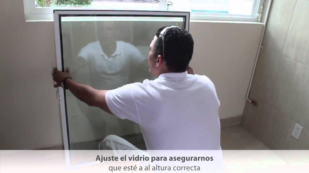 Reemplazo de vidrio thermak en ventana de pvc youtube for Ventanas de aluminio doble vidrio argentina