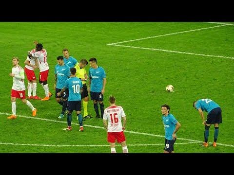 Zenit 1:1 RB Leipzig / Зенит 1:1 РБ Лейпциг с трибуны Санкт-Петербург Арены