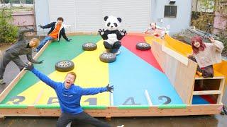 【完全自作】巨大ピンボール作って遊んだら最高に楽しかったwwwww