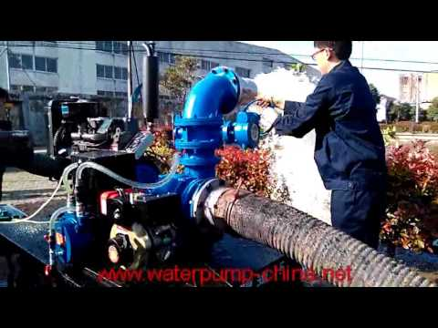 Mixed-Flow Diesel Trailer Pump for Flood Control Service