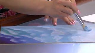 Como Pintar un Cielo - Cuadro Realista en Acrílico - Hogar Tv  por Juan Gonzalo Angel