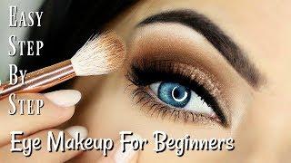 Beginner Eye Makeup Tips & Tricks | STEP BY STEP EYE MAKEUP FOR BLUE EYE