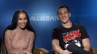 Zoe Kravitz and Miles Teller on 'Allegiant' and Their Go-To Karaoke Songs