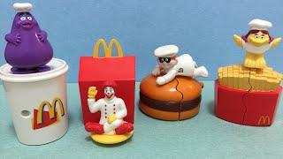 1999 McDonald's  McChef set of 4 Happy Meal Kids toys video review 麥當勞妙廚師 快樂兒童餐 經典玩具組