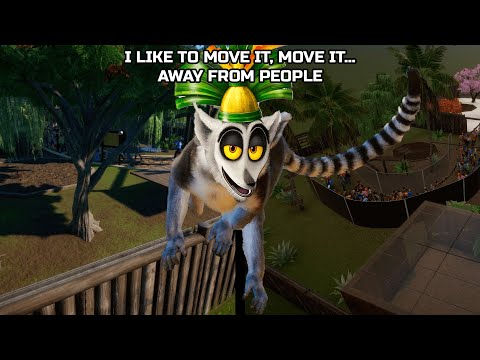 I Like To Move It… Away From People | Building a Ring Tailed & Red Ruffed Lemur Habitat | Planet Zoo |
