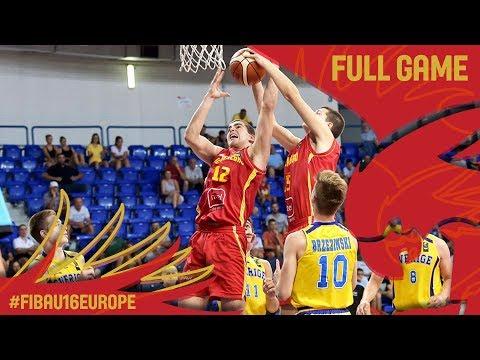 Sweden v Montenegro - Full Game - FIBA U16 European Championship 2017